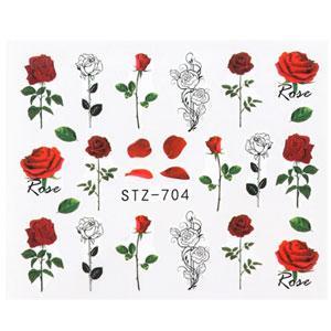 KATTi Наклейки водные STZ 704 акварель цветные розы стебли