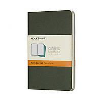 Блокнот Moleskine Cahier Зеленый Карманный 64 страницы Линейка (9х14 см) (8055002855211), фото 1