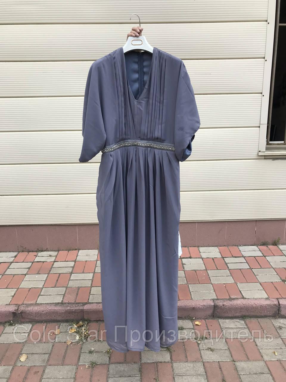 Шифоновое нарядное платье батал, фото 1