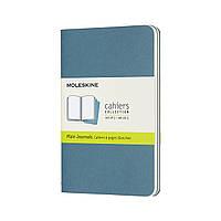 Блокнот Moleskine Cahier Карманный 64 страницы Нелинованный Живой Голубой (9х14 см) (8058647629612)