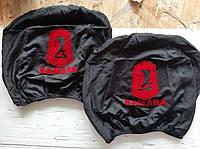 Чохли на підголівник LADA Samara ВАЗ 2108, 2109 чорні з червоним 2 шт