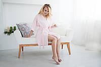 Сатиновый халат, розовый m, фото 1