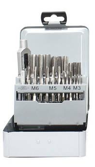 Металева коробка для набору ручних мітчиків М3-М12+ мітчикотримач (пуста) GSR Німеччина