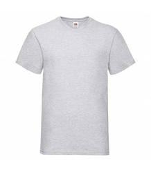 Мужская футболка с v-образным вырезом светло-серая 066-94