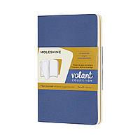 Блокнот Moleskine Volant 2 шт. Карманный 80 страниц Нелинованный Незабудка, Янтарь (8058647620589), фото 1
