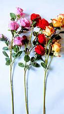 Искусственная ветка розы., фото 2