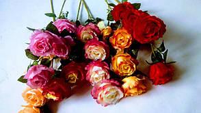 Искусственная ветка розы., фото 3