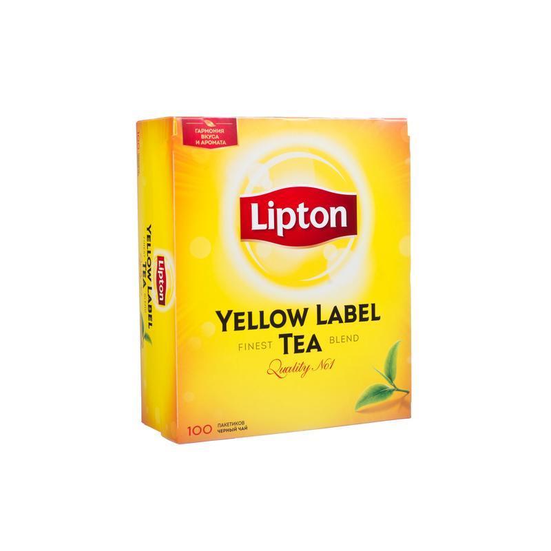 Черный Чай Lipton Yellow Label 100 пакетиков