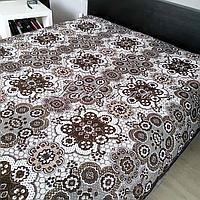 Гобеленовое плед-покрывало, капа 220х240 см. для дивана, кровати, пляжа, пикника