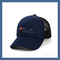 Кепка- бейсболка и резиновым патчем FILA