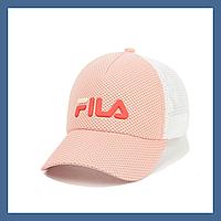 Кепка- бейсболка и резиновым патчем FILA светлая пудра