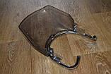 Ветровое стекло + защита фары мотоцикла (под круглую фару)  дымчатое, фото 7