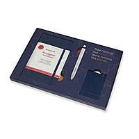 Подарочный набор Moleskine Вояжер Синий: Блокнот Voyageur 208 страниц + Ручка Go + Бирка (8058647629858), фото 1