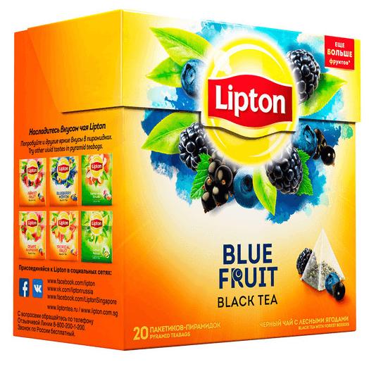 Чай Lipton Blue Fruit \ Черные Ягоды (20 шт) черный