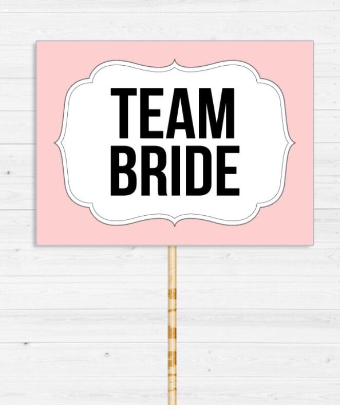 "Табличка для фотосесії ""TEAM BRIDE"""
