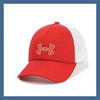 Кепка- бейсболка и резиновым патчем Under Armour красный