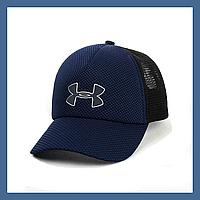 Кепка- бейсболка и резиновым патчем Under Armour синий