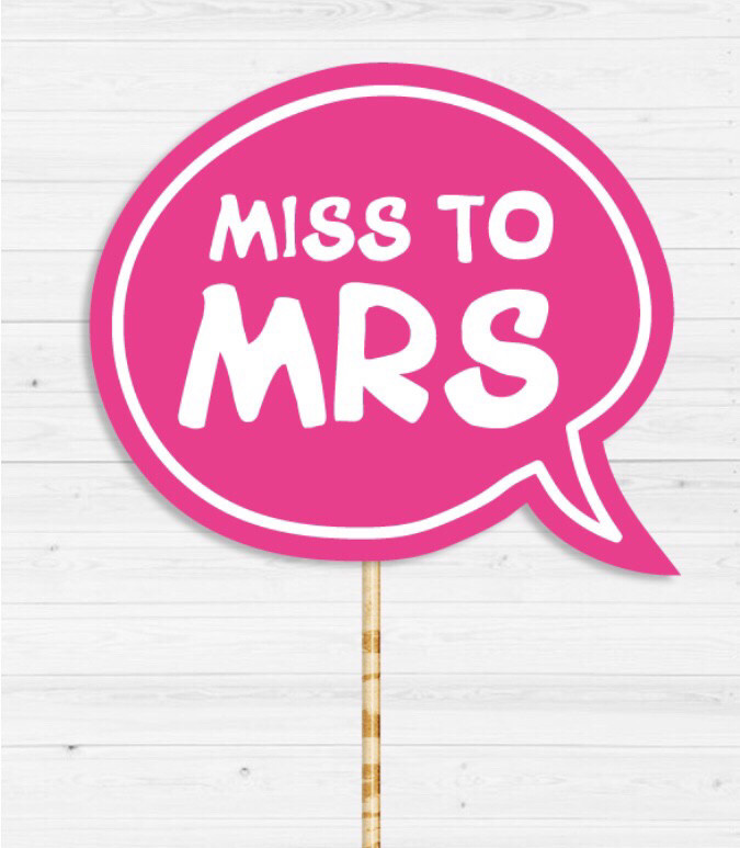 """Табличка для фотосесії """"to Miss MRS"""""""