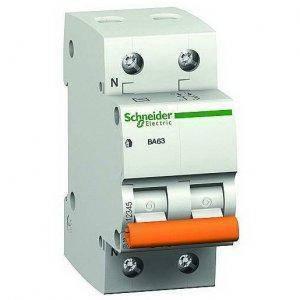 """Автоматичний вимикач 11215 """"Домовик"""" Schneider ВА 63, 1P + N, 25A, C"""