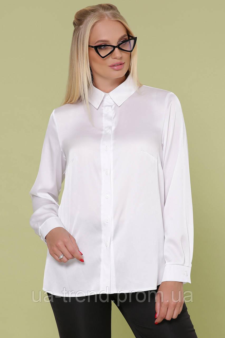Блузка білого кольору великих розмірів