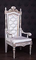 "Резной трон из дерева ""Монарх"" от фабрики мебели под заказ. Кресло трон, стул трон из натурального дерева"