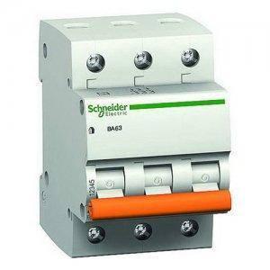 """Автоматичний вимикач 11222 """"Домовик"""" Schneider ВА 63, 3P, 10A, C"""