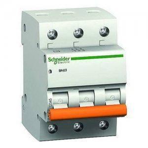 """Автоматичний вимикач 11225 """"Домовик"""" Schneider ВА 63, 3P, 25A, C"""