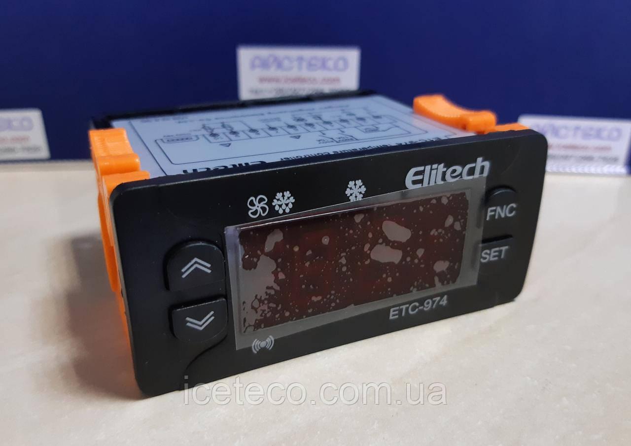 Цифровой контроллер Elitech ETС-974 220V (2 датчика)