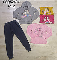Трикотажный костюм 3 в 1 для девочек оптом, Seagull, 4-12 лет,  № CSQ-52494, фото 1