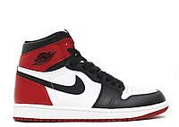 Баскетбольные кроссовки Air Jordan 1 Retro Black Toe РЕПЛИКА ААА
