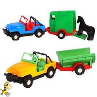Игрушечная машинка авто-джип с прицепом или кузовом