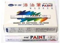 Лаковый маркер белый для металла резины шин 12шт