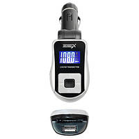 FM-трансмиттер Grand-X CUFM75GRX, AUX, USB 0,5A, SD card, 3,5mm mini-jack