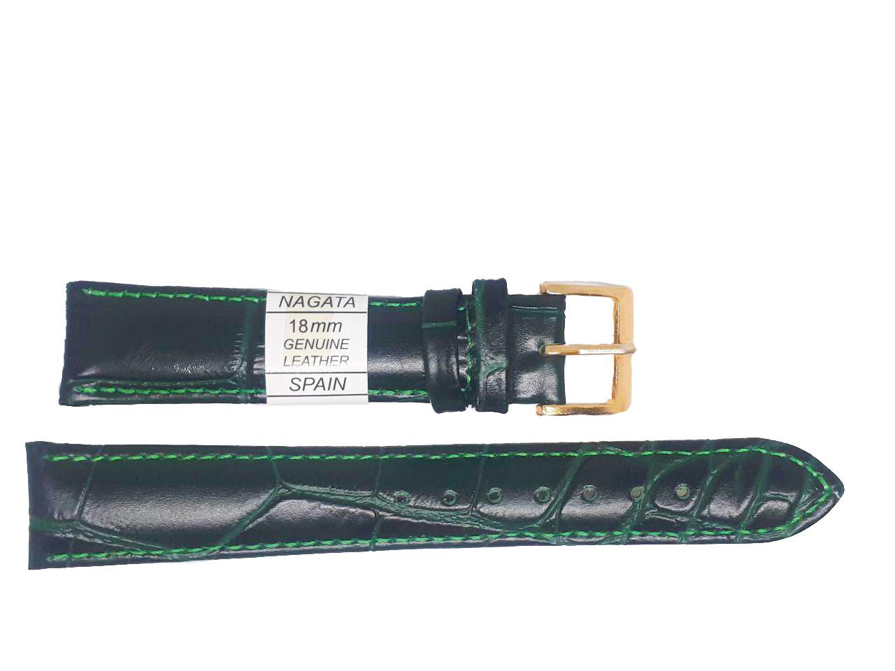 """Ремешок """"Nagata"""" 18mm темно-зеленый"""