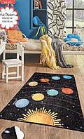 Коврик в детскую комнату, детский ковер 100*160 см, Галактика