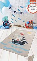Коврик в детскую комнату, детский ковер 100*160 см, Матрос