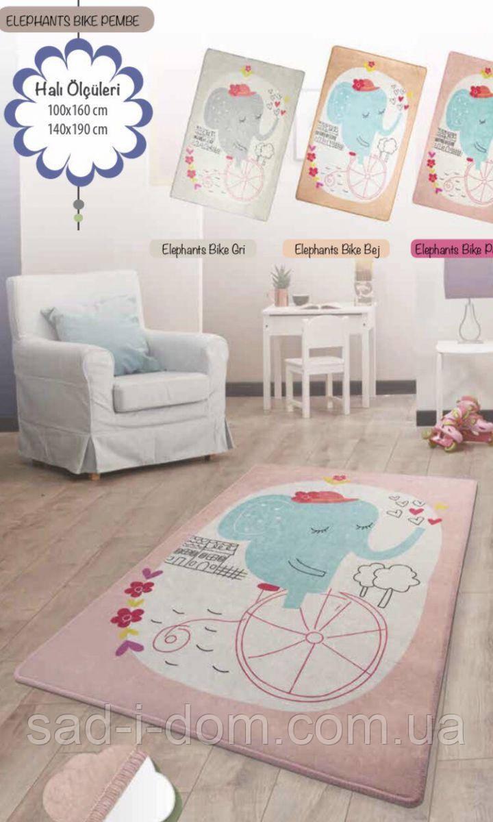 Коврик в детскую комнату, детский ковер 100*160 см, Слонёнок