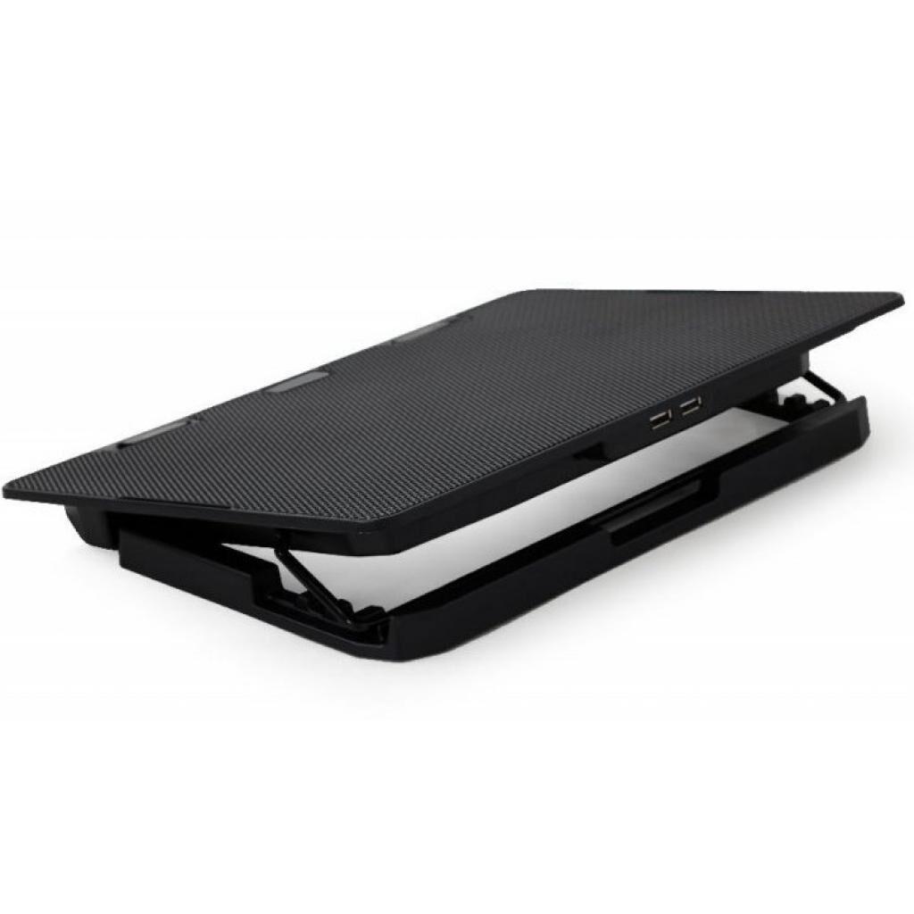 """Подставка для ноутбука GEMBIRD 15"""", 2x125 mm fan, black (NBS-2F15-02)"""