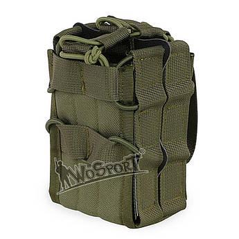 Магазинный подсумок с перегородкой: WoSport. MG-14 (Олива). Подсумок для магазинов АК. Подсумок на molle