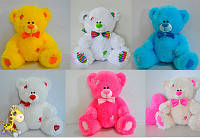 Медведь Тедди сидячий 2728 см, 10 цветов