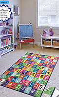 Коврик в детскую комнату, детский ковер 100*160 см, Цифры