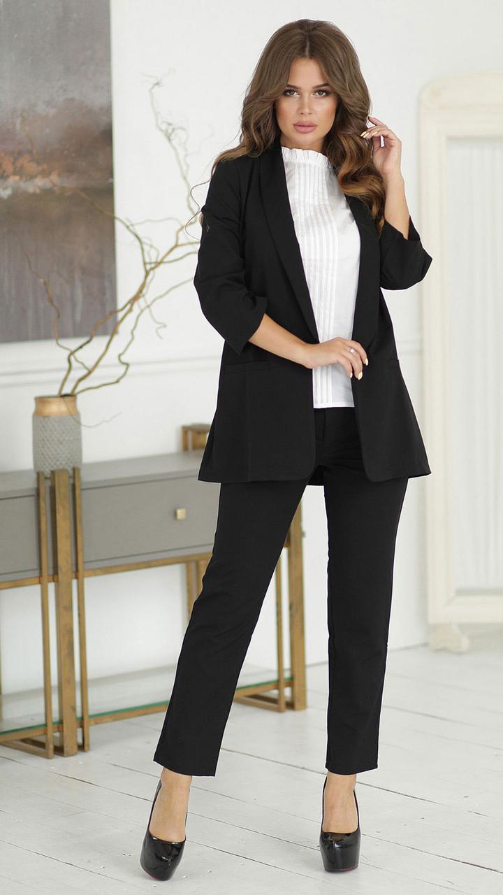 Черный Костюм с удлиненным пиджаком