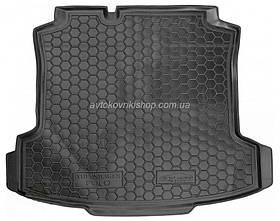 Резиновый коврик багажника  Volkswagen Polo 2010- (седан) Avto-Gumm