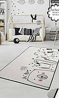 Коврик в детскую комнату, детский ковер 100*160 см, Bee happy