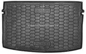 Резиновый коврик багажника Volkswagen Polo 2018- (хэтчбек) Avto-Gumm