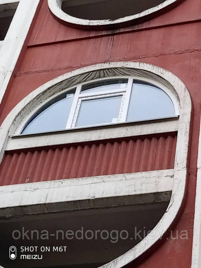 Арочные окна пластиковые в Киеве на ул. Олейника 7