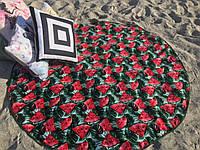 150х150см. Махра/велюр. Круглое пляжное полотенце
