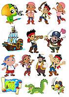"""Вафельная картинка """"Пираты"""" 13"""