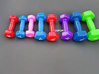 Гантели для фитнеса виниловые цельные (неразборные) OSPORT Profi 3 кг (FI-0105-3)