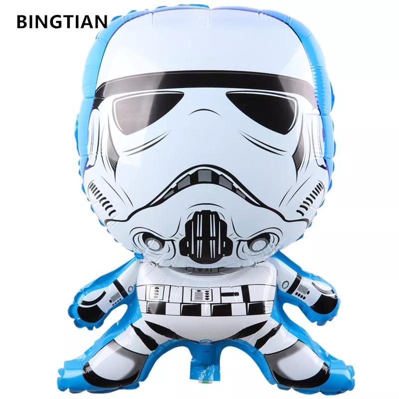 Фольгований куля зоряні війни Star Wars постать у білому 61см.